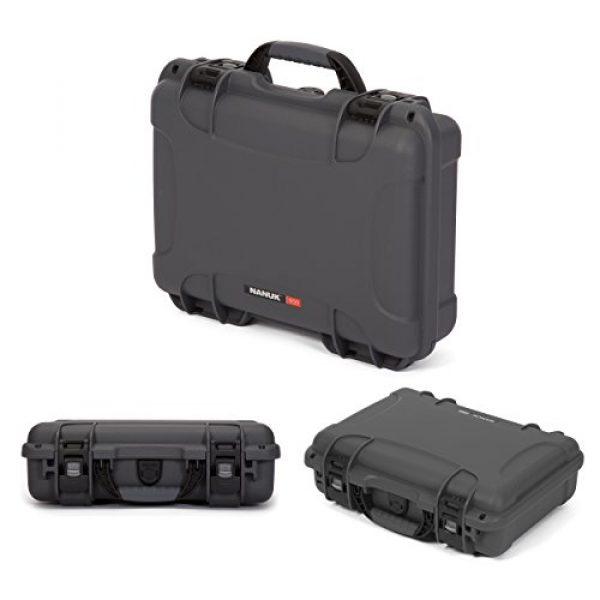 Nanuk Pistol Case 3 Nanuk 910 2UP Waterproof Hard Case w/Custom Foam Insert for Glock Pistols - Graphite