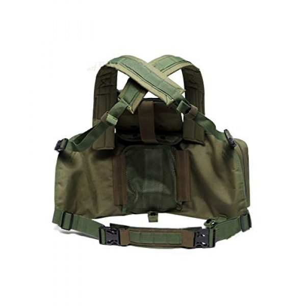 Armiya Airsoft Tactical Vest 2 Armiya Mens Molle Tactical Military Chest Rig Law Enforcement Work Vest Combat Condor Security Training Tool Pouch for Outdoor Paintball CS Game Airsoft Climbing Hiking