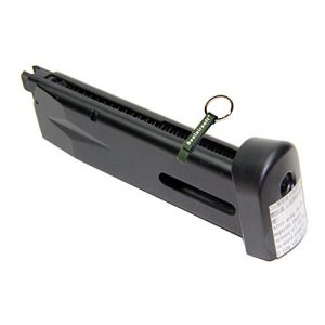 KJW Airsoft Gun Magazine 1 KJ Works 24rds Airsoft Metal 6mm CO2 Magazine For P226 KP01 GBB -Mobile Ring Included