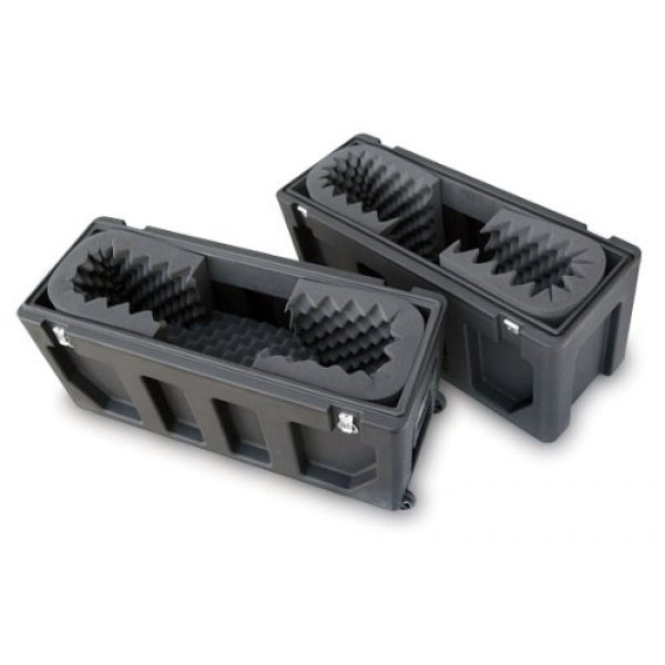 SKB Pistol Case 4 SKB Equipment Case, Roto-Molded LCD Case fits 20 - 26 Screens, Universal Foam Pad Set