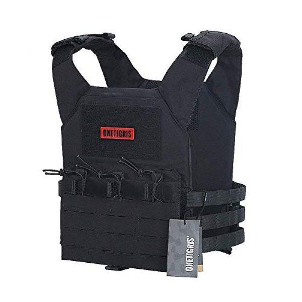 OneTigris Airsoft Tactical Vest 2 OneTigris Black Tactical Vest & Chest Rig Set