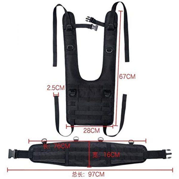 Shefure Airsoft Tactical Vest 6 Shefure Tactical H-Harness Waist Battle Belt Suspenders Hunting Molle Vest Chest Rig