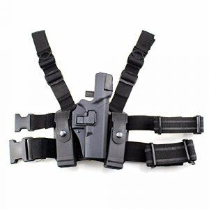 PG  1 PG Tactical Glock Leg Holster Right Thigh Paddle Belt Level 3 Lock Duty Pistol Gun Holster Magazine Torch Pouch f Glock 17 19 22 23