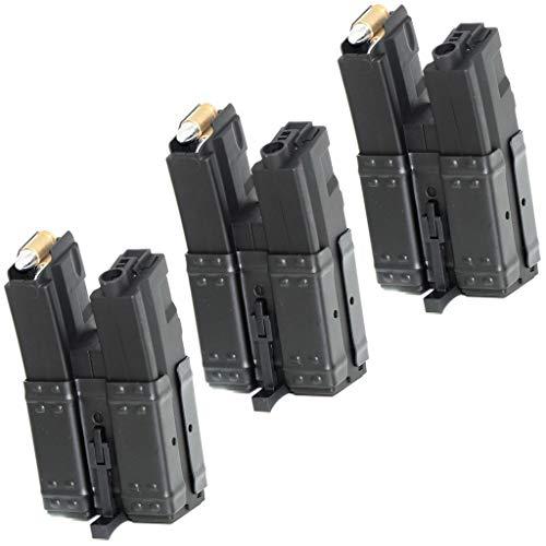 Generica  1 Airsoft Spare Parts CYMA 3pcs 250rd Short Mag Hi-Cap Dual Magazine for MP5 Series AEG Black