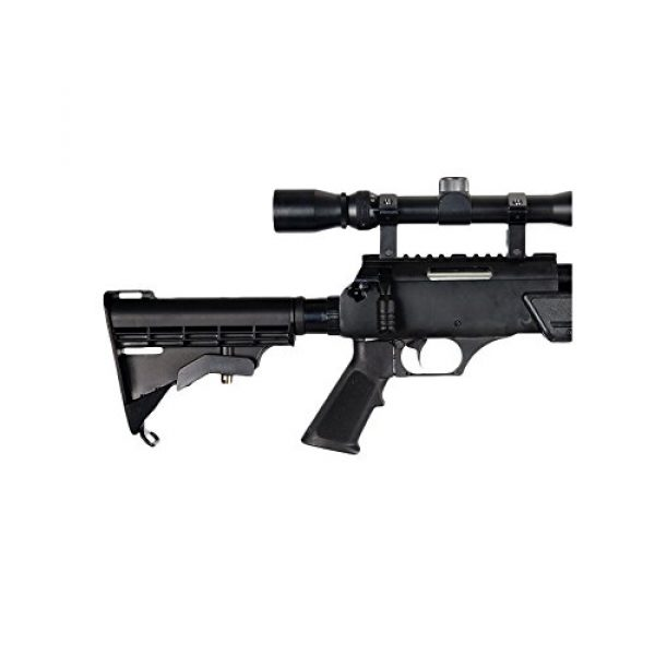 Well Airsoft Rifle 4 Well MB06AB Airsoft Bolt Action Sniper Rifle with Scope & Bipod FPS-460 - Black