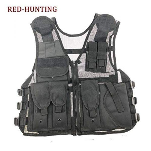 Shefure Airsoft Tactical Vest 3 Shefure New Adjustable Tactical Combat Training Vest Lightweight Mesh Tactical Breathable Vest Black