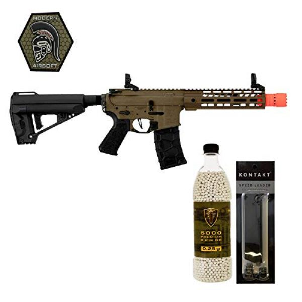 Modern Airsoft Airsoft Rifle 1 Airsoft Rifle VFC Avalon Saber CQB with Elite Force .25G BBS 5000CT Patch and Speedloader