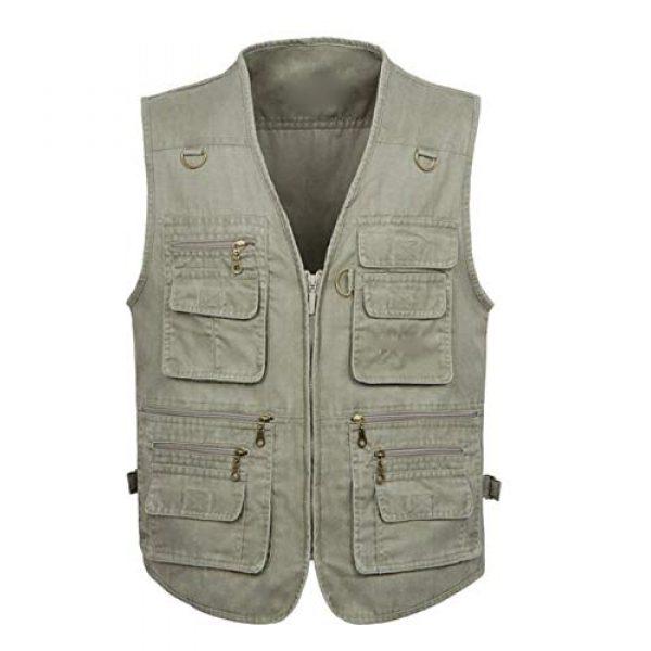 DAFREW Airsoft Tactical Vest 1 DAFREW Multi-Pocket Vest Outdoor Casual Photography Vest Fishing Vest Cotton Breathable Vest (Color : Khaki, Size : L)