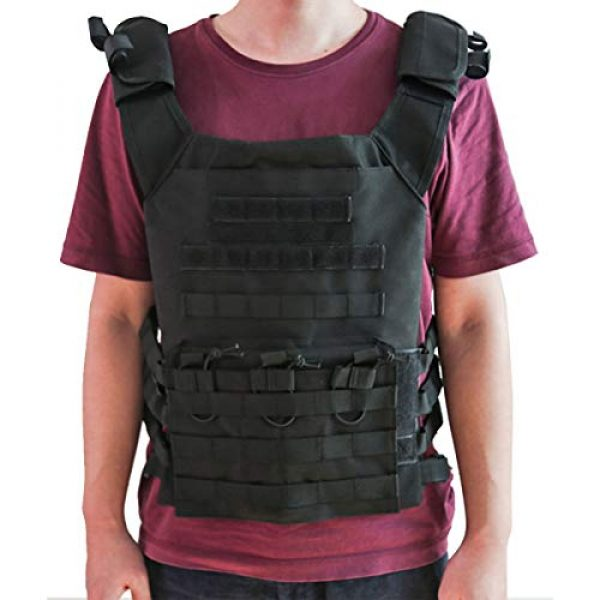 KIDYBELL Airsoft Tactical Vest 3 KIDYBELL Tactical Molle Vest Breathable Combat Training Vest 1000D Oxford Cloth Outdoor Activity Air Soft Vest Sports Equipment Modular Vest