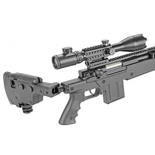 BBTac Airsoft Rifle 5 BBTac Well MB04 G-22 AWM Airsoft Sniper Rifle with 3-9 x 40 Scope and Bi-Pod