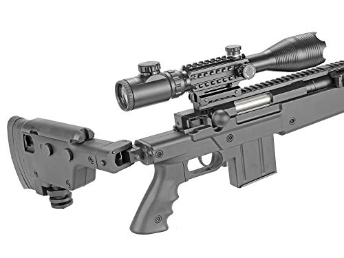 BBTac  5 BBTac Well MB04 G-22 AWM Airsoft Sniper Rifle with 3-9 x 40 Scope and Bi-Pod