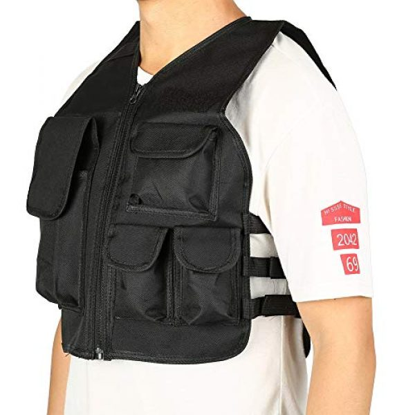 Aufee Airsoft Tactical Vest 4 Child Vest, 4 Colors Nylon CS Game Armor Vest Solid and Wear Resistant,with Side Hook and Loop Straps,Suitable for Children at Age of 8-14