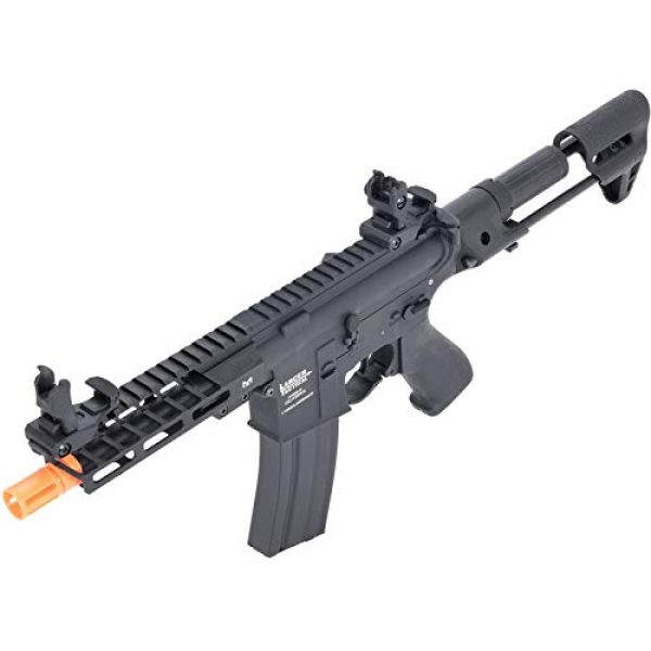 Lancer Tactical Airsoft Rifle 4 Lancer Tactical ProLine NEEDLETAIL PDW Airsoft AEG Rifle Low 350 FPS Black