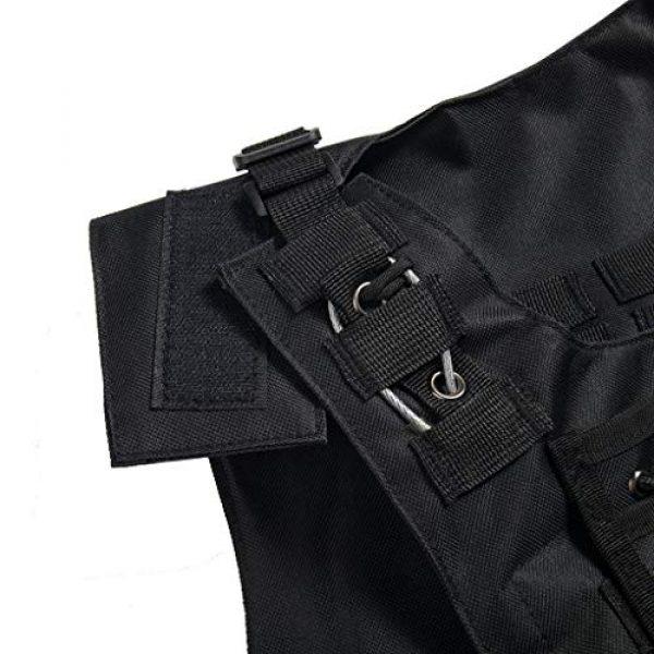 Jipemtra Airsoft Tactical Vest 6 Jipemtra Tactical MOLLE Airsoft Vest Adjustable Paintball Combat Training Vest Detachable (Black)