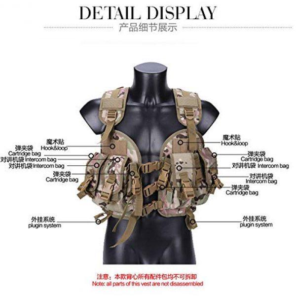 HAOYUN Airsoft Tactical Vest 4 HAOYUN CQB Modular Protective Tactical Vest 97 Seal Water Bag Tactical Vest