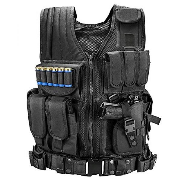 BGJ Airsoft Tactical Vest 7 BGJ Tactical Vest Military Combat Army Armor Vests Molle Airsoft Plate Carrier Swat Vest Outdoor Hunting Fishing CS Training Vest