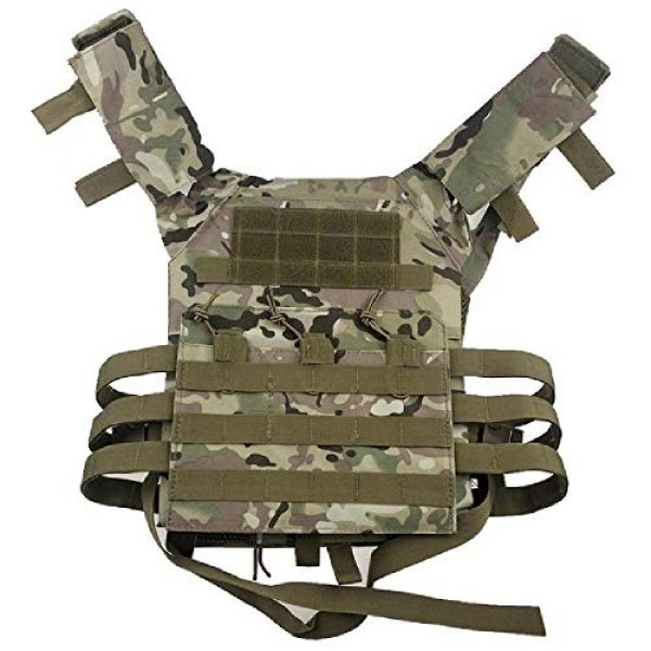BGJ Airsoft Tactical Vest 1 BGJ Men Hunting Tactical Vest Military Molle Plate Carrier Magazine Airsoft Paintball CS Outdoor Protective Lightweight Vest