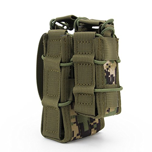 ATAIRSOFT  4 ATAIRSOFT Tactical 1000D Nylon Double MAG Pouch for Hunting Wargame Airsoft Molle Magazine Pouch