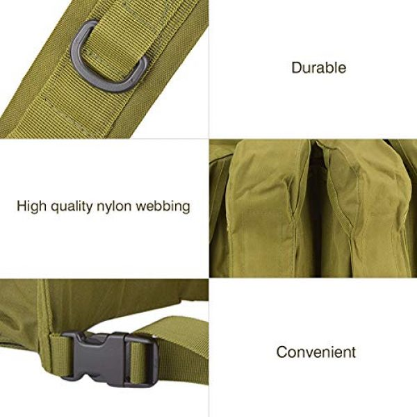 Yosoo Airsoft Tactical Vest 7 Yosoo Tactics Training Bag,Nylon Outdoor Tactics Vest Military Fan Camouflage Waistcoat Training Bag Equipment