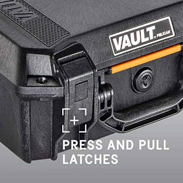 Pelican Pistol Case 5 Vault by Pelican - V200 Pistol Case with Foam (Black)