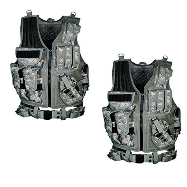 OURLITIME Airsoft Tactical Vest 2 OURLITIME Airsoft Tactical Vest, Tactical Vest Multi-Pocket SWAT Army CS Hunting Vest Camping Hiking Accessories Outdoor Hunting Hiking Camping Equipment