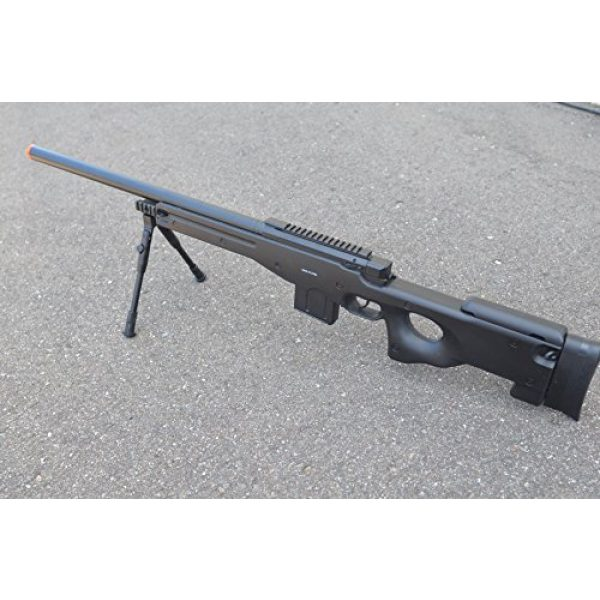 Well Airsoft Rifle 1 Well Full Metal L96 Bolt Action Spring Powered Sniper Rifle Airsoft Gun w/Bipods (Bipods package)