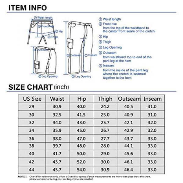 Alfiudad Tactical Pant 3 Men's Military Tactical Pants Casual Cotton Army Camo Combat Cargo Work Pants BDU Trousers with 8 Pockets