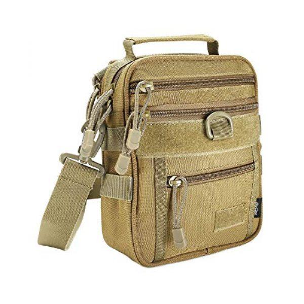 ProCase Pistol Case 1 ProCase Pistol Bag, Military Gear Tactical Handgun Shoulder Strap Bag Gun Ammo Accessories Pouch Shooting Range Duffle Bag for Shooting Range Sport -Khaki