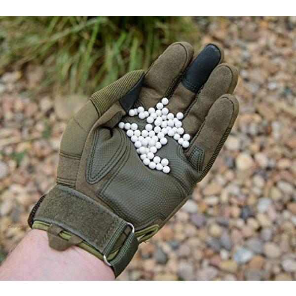 BioShot Airsoft BB 3 BioShot Biodegradable Airsoft BBS - Tuner Pack Super Slick Seamless Sniper Weight Competition Match Grade for All 6mm Airsoft Guns and Accessories (4 400rd Packs, White)