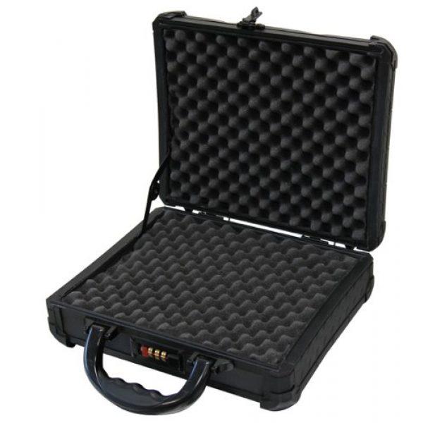 T.Z. Case International Pistol Case 2 T.Z. Case International TZM0011 BD 12 x 9 1/2 x 3 1/2-Inch Single Pistol Case, Black Dot Finish