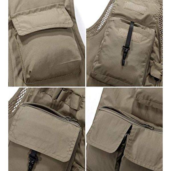 DAFREW Airsoft Tactical Vest 7 DAFREW Men's Casual Vest Outdoor Photography Vest Quick Dry Multi-Pocket Vest (Color : Khaki, Size : XL)
