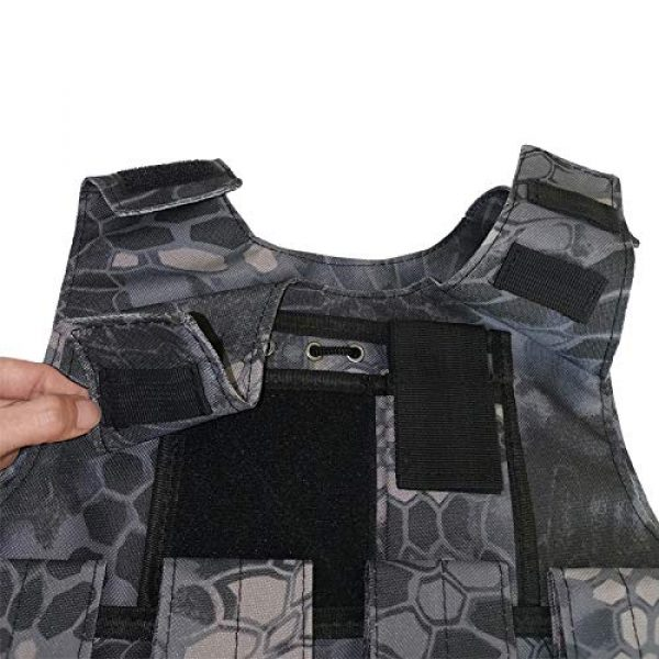 BGJ Airsoft Tactical Vest 3 Outdoor Airsoft Tactical Kids Children Vest Uniform Army Military Equipment Kids Boy Girl Camouflage Combat CS Hunting Clothes