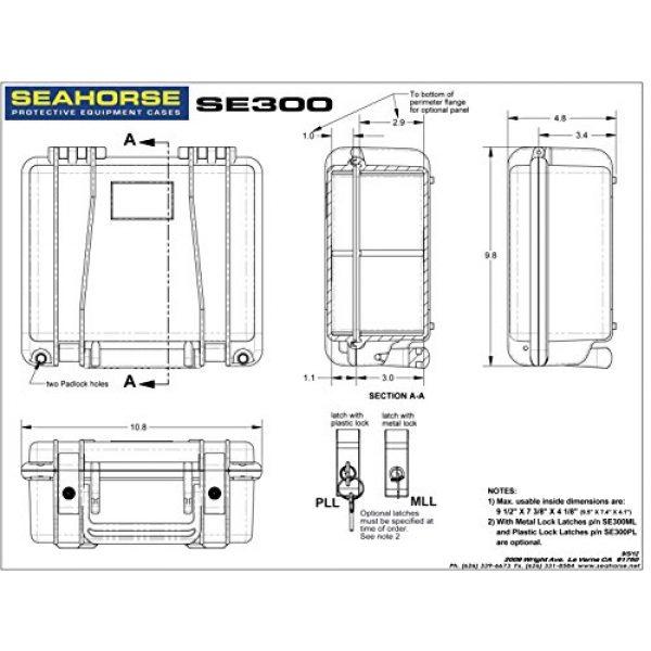 Seahorse Pistol Case 4 Seahorse SE-300 Handgun Case
