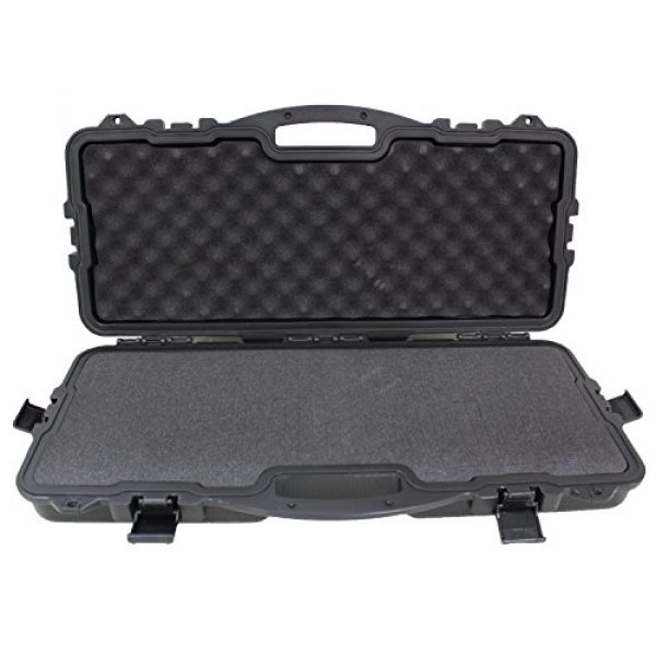 SAS Pistol Case 1 SAS Takedown Bow Hard Case with Pluck Foam and Locking Holes for Competition Bow, Pistol, Archery Accessories or Handgun