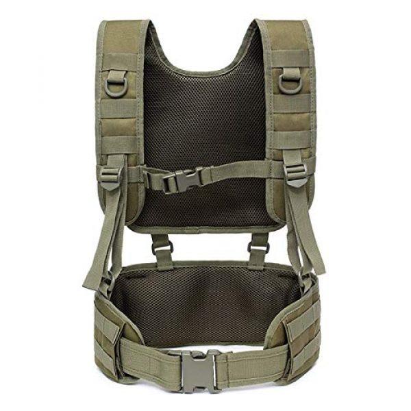 BGJ Airsoft Tactical Vest 4 Combat Molle Pals Tactical Waist Belt Combat Removable Waist Battle Padded Belt H-Shaped Suspender Harness Airsoft Wargame Vest