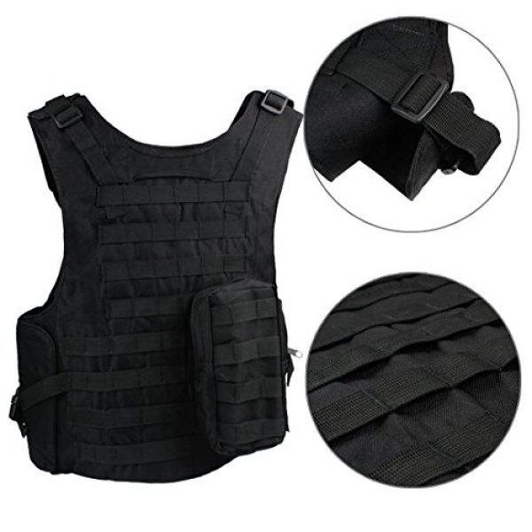 Andux Airsoft Tactical Vest 4 Andux Land Airsoft Assault Vest Paintball Combat Vest Tan Adult ZSBS-01