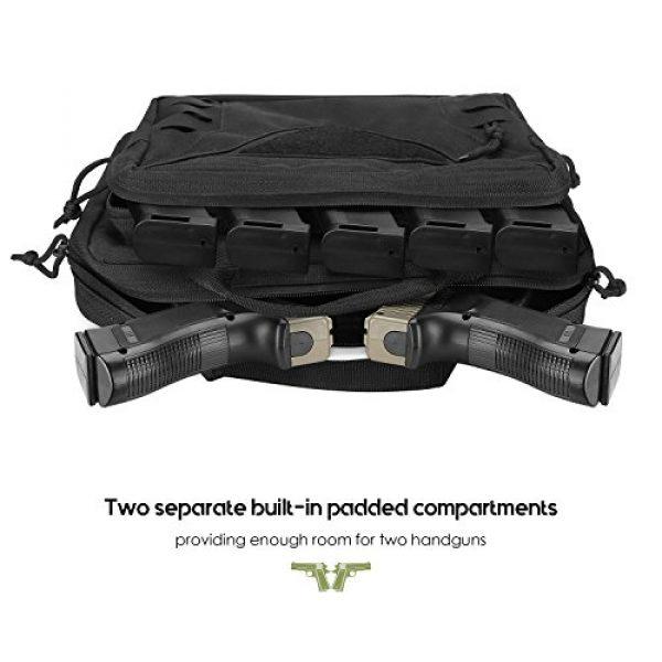 ProCase Pistol Case 3 ProCase Tactical Pistol Case, Shooting Range Pistol Bag Handgun Magazine Pouch Shooting Range Duffle Bag for Hunting or Shooting Range Sport