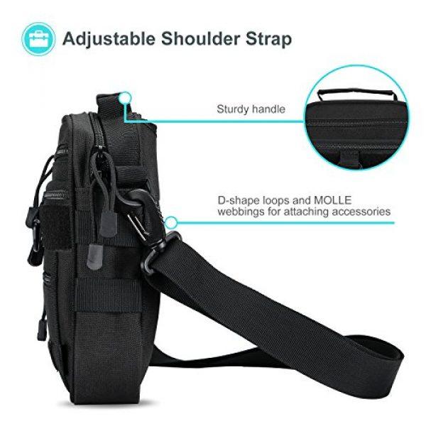 ProCase Pistol Case 6 ProCase Pistol Bag, Military Gear Tactical Handgun Shoulder Strap Bag Gun Ammo Accessories Pouch Shooting Range Duffle Bag for Shooting Range Sport - Black
