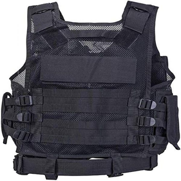 BGJ Airsoft Tactical Vest 6 Tactical Vest Adjustable Molle Swat Army Military Combat Assault Body Armor Hunting Fishing Shooting Airsoft Vest