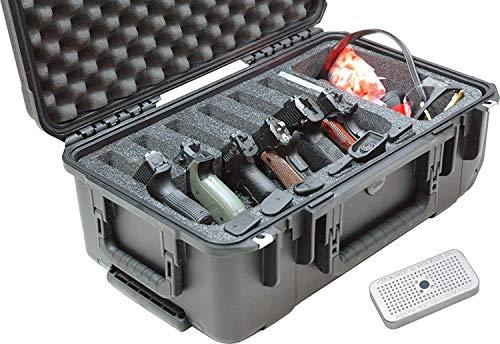 Case Club Pistol Case 1 Case Club Waterproof 6 Pistol Case with Accessory Pocket & Silica Gel
