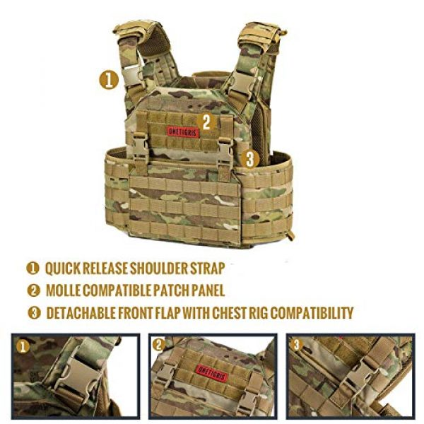 OneTigris Airsoft Tactical Vest 5 OneTigris Airsoft Tactical Vest & Triple Mag Pouch with Utility Pouch Tactical Placard 01