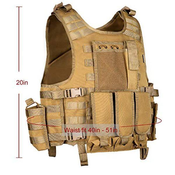 MGFLASHFORCE Airsoft Tactical Vest 3 MGFLASHFORCE Tactical Airsoft Vest Adjustable Modular Paintball Vest