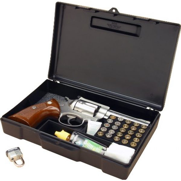 "MTM Pistol Case 1 MTM 804-40 Pistol Handgun Long Term Storage Case 4"" Revolver, Black"
