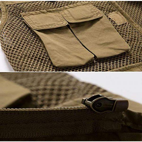 DAFREW Airsoft Tactical Vest 5 DAFREW Multi-Pocket Vests Vests Men's Casual Fishing Photography Vests mesh Breathable Vest (Color : Army Green, Size : L)
