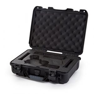 Nanuk Pistol Case 1 Nanuk 910 2UP Waterproof Hard Case w/Custom Foam Insert for Glock Pistols - Black