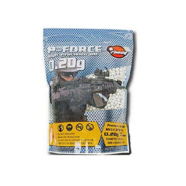 P-Force Airsoft BB 1 P-Force Super Premium 5,000 .20g Airsoft BB's (White)