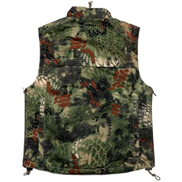 HAOWUTX Airsoft Tactical Vest 2 HAOWUTX Tactical Vest Outdoor Multifunctional Waist Bag for Hunting Photography Airsoft Paintball CS Jacket Camouflage (Color : Green camo, Size : M)