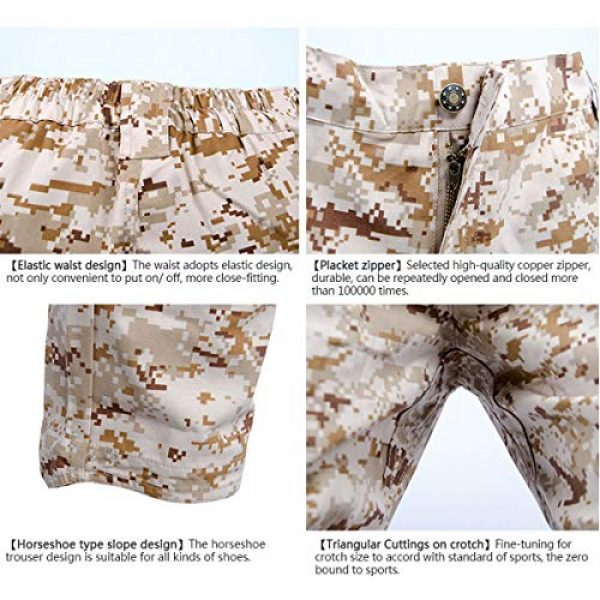 LANBAOSI Tactical Pant 5 Men's Tactical Military BDU Pants Combat Woodland Camo Outdoor Gear Trousers
