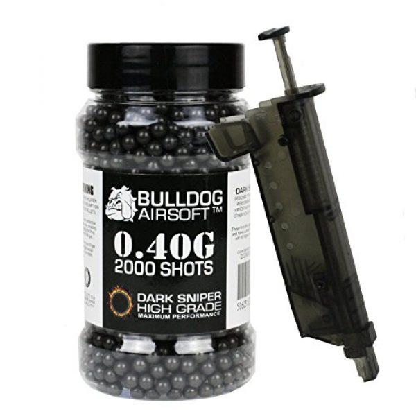 BULLDOG AIRSOFT Airsoft BB 1 Bulldog 0.40g 2000 Dark Sniper Airsoft BB Pellets Black with Speed Loader