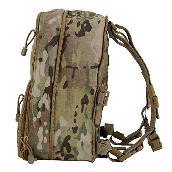 DETECH Airsoft Tactical Vest 4 DETECH Tactical Vest Airsoft Ammo Chest Rig Magazine Carrier with Molle FlatPack Assault Pack Backpack